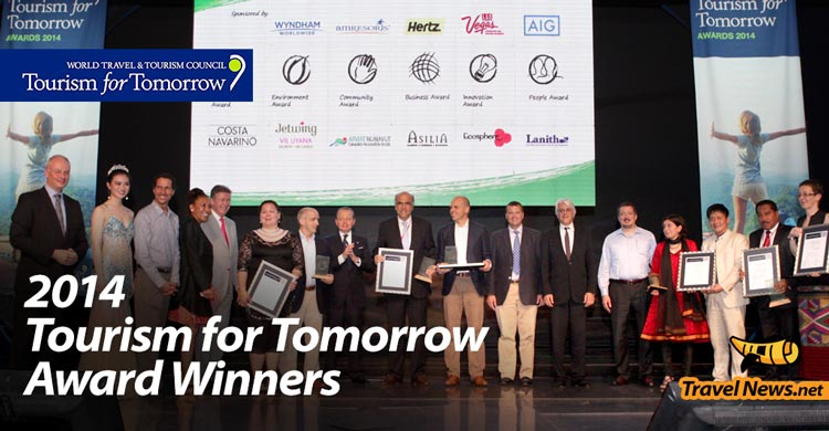 World Travel & Tourism Council Announces 2014 Tourism for Tomorrow Award Winners